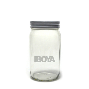 14oz Round Mason Jars/ Jam Jars with Silver/Gold Cap