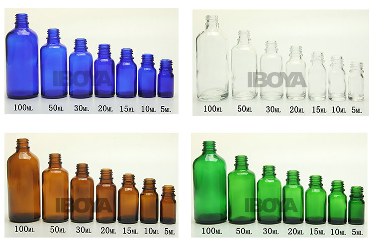20ml Blue European Dropper Glass Bottle Essencial Oil Glass Bottle