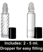 5ml 10ml Safe, secure and convenient black roll on bottle packaging